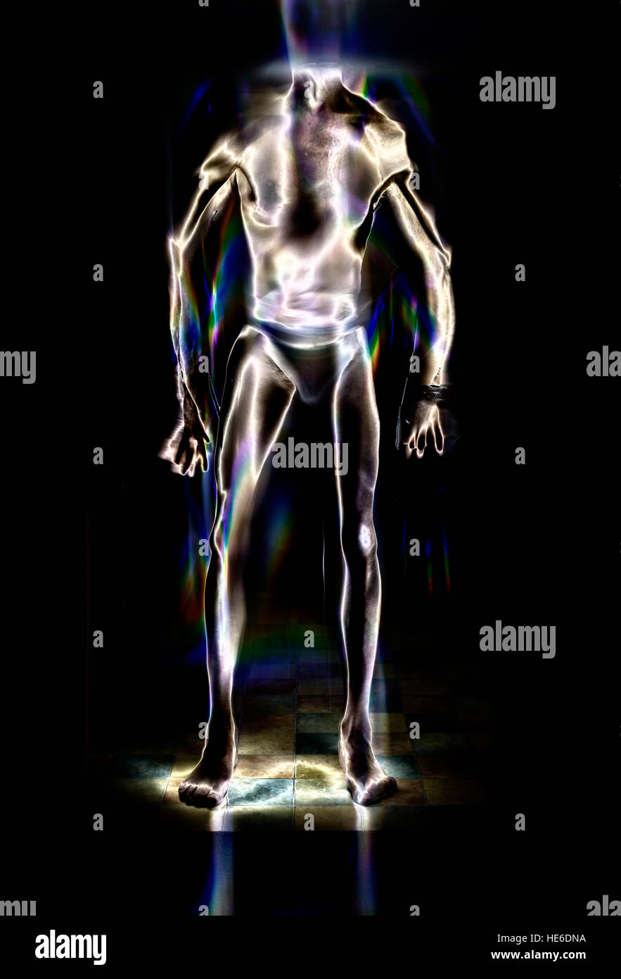 A surreal image of a alien like man - Stock Image