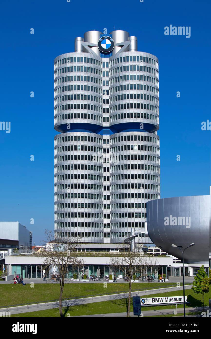 BMW headquarters exterior in Munich - Stock Image