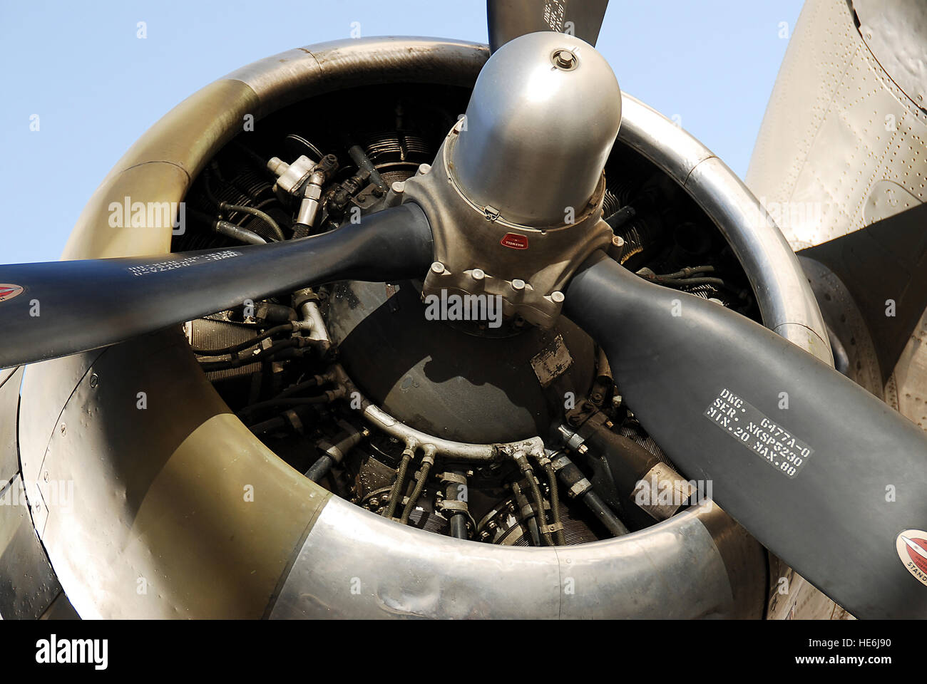 The propeller of a plane - Stock Image