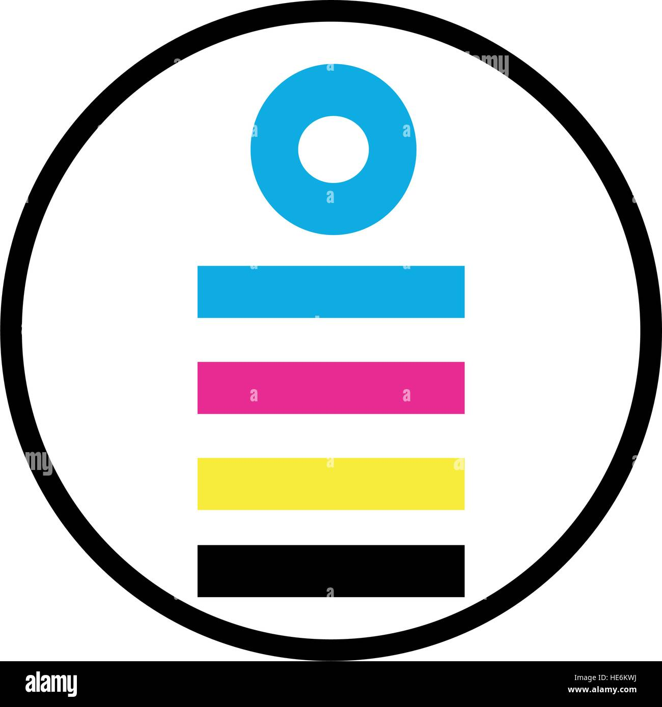 CMYK Icon Design Concept, EPS 8 supported. - Stock Image
