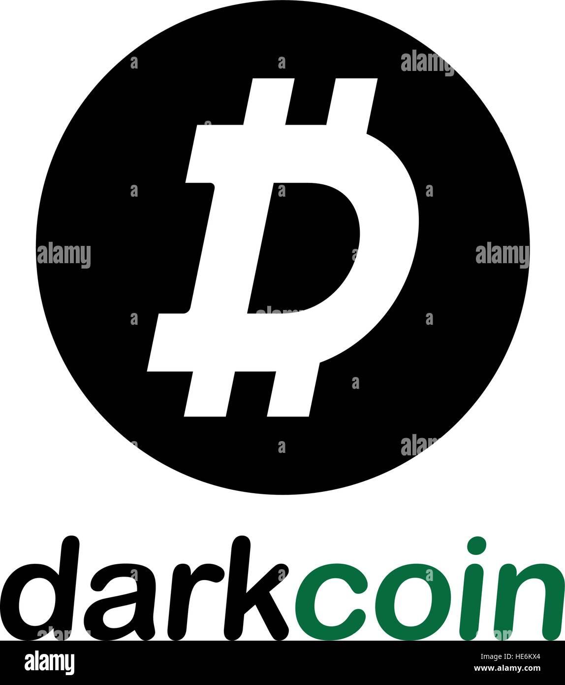 Dark Coin Concept Design, EPS 8 supported. Stock Vector