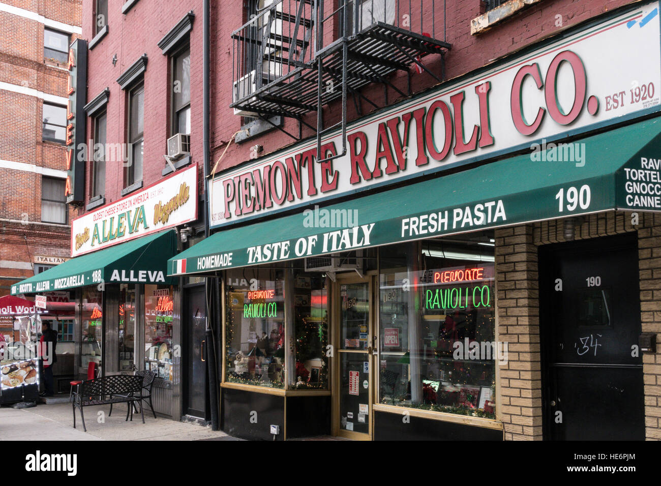 Little Italy in New York City, USA - Stock Image