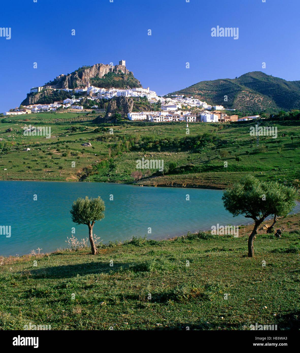Zahara de la Sierra, Andalucia, Spain - Stock Image