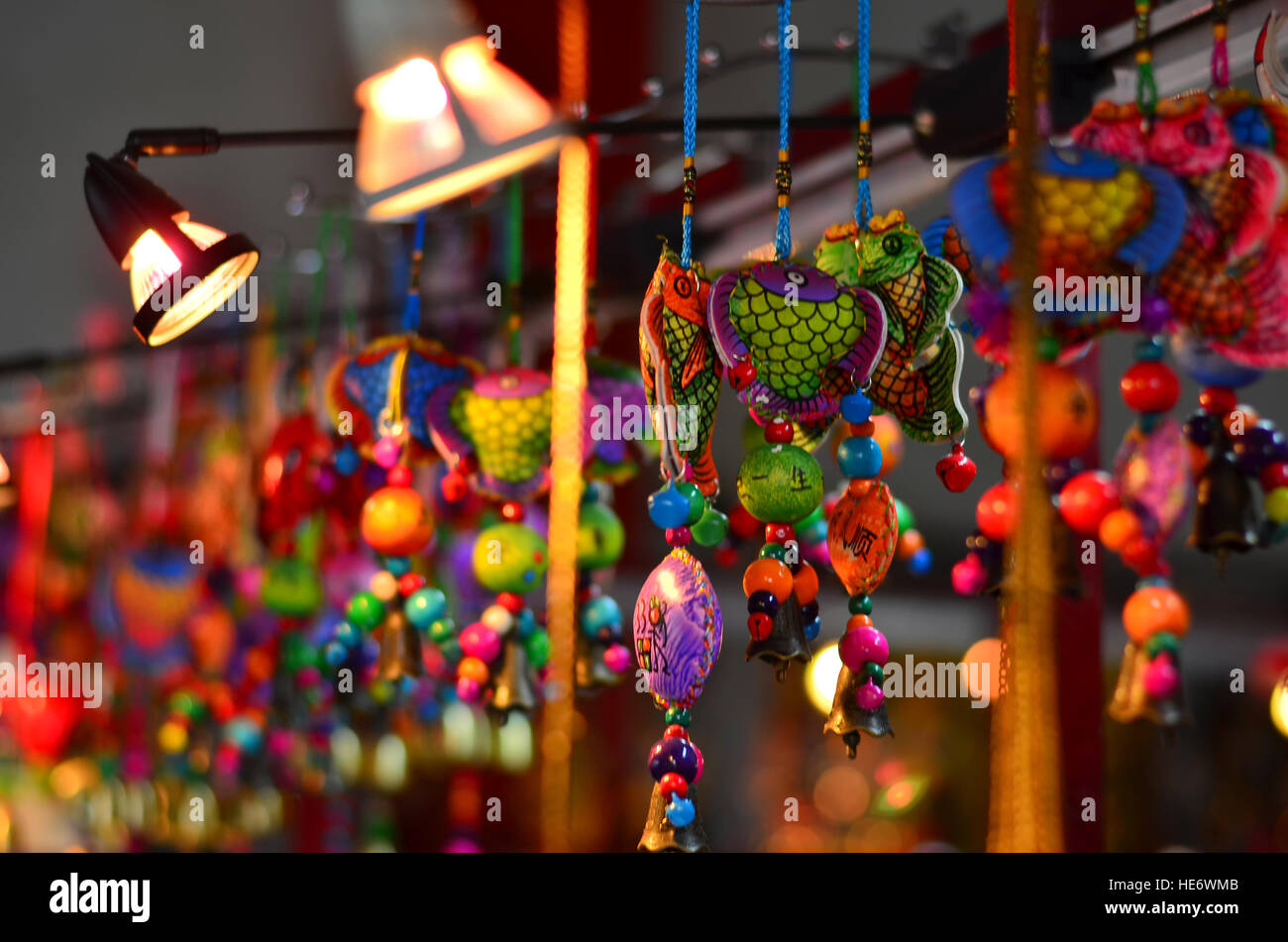 Chinese Hanging Art - Stock Image