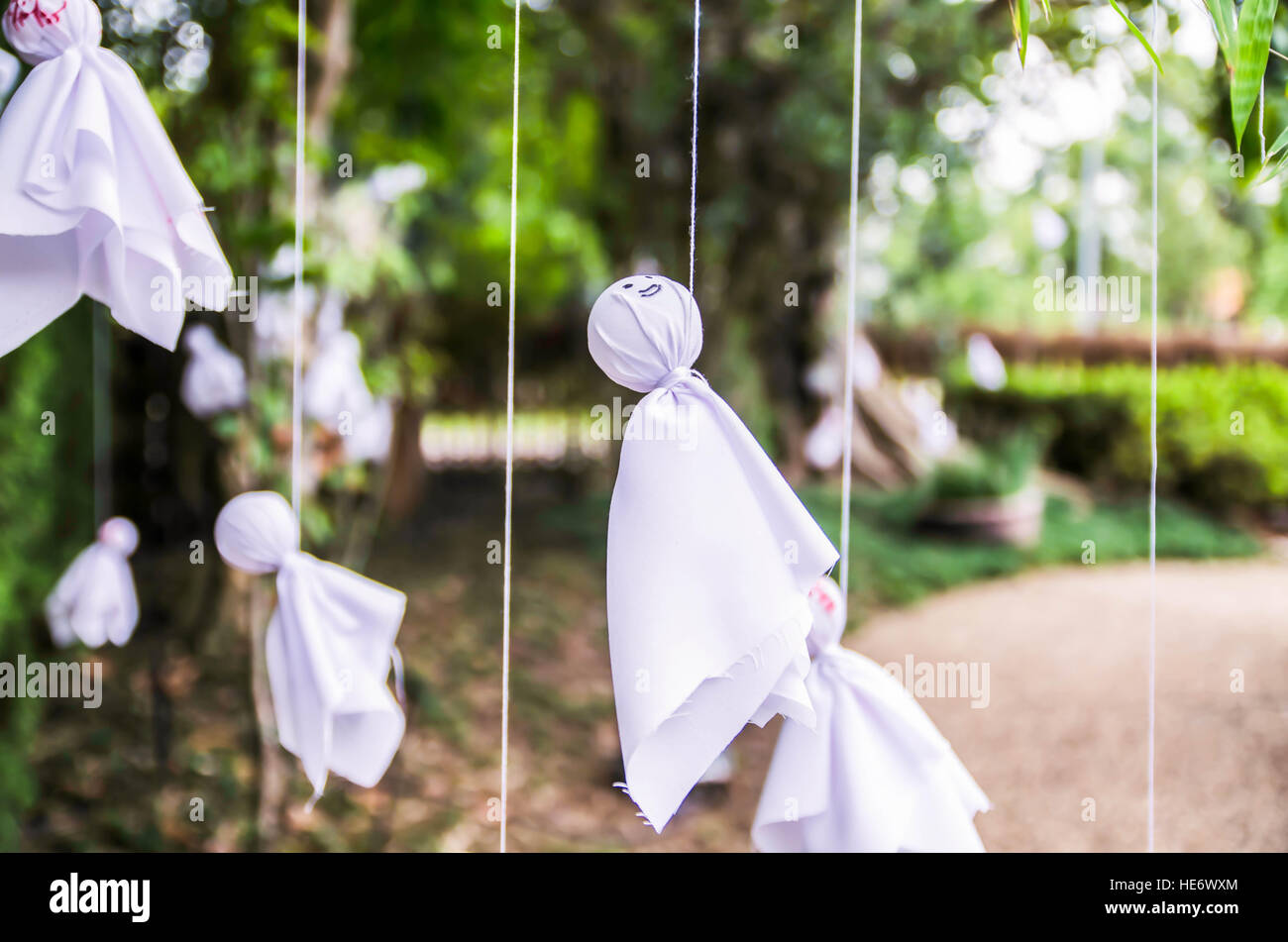 doll Japanese hang it to pray for good weather - Stock Image