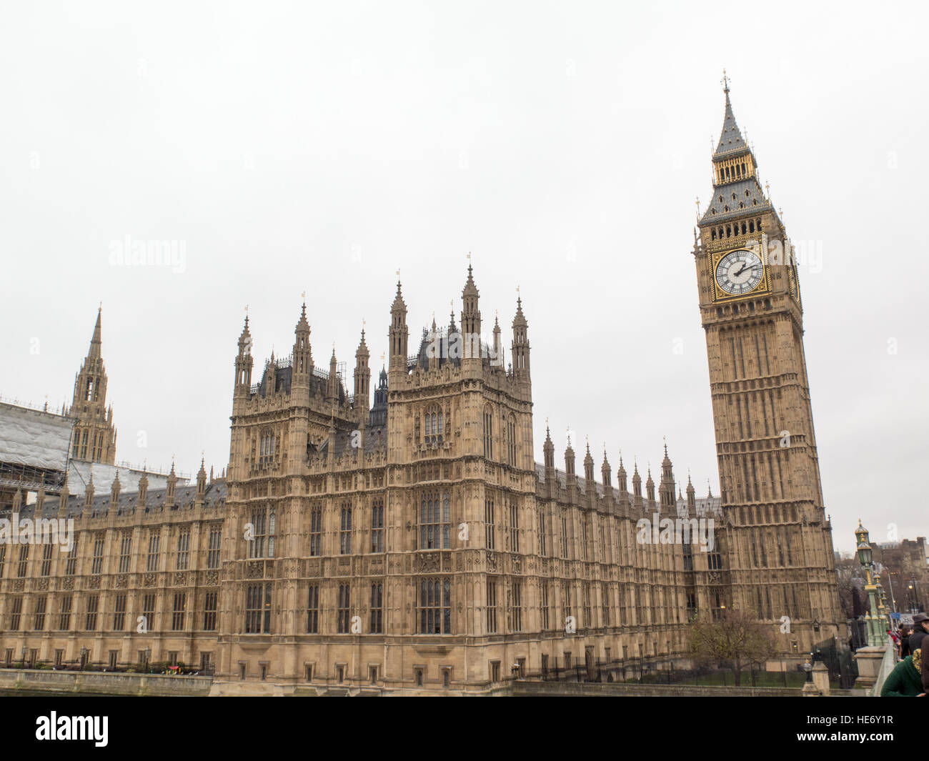 The Palace of Westminster  House of Commons  House of Lords, - Stock Image