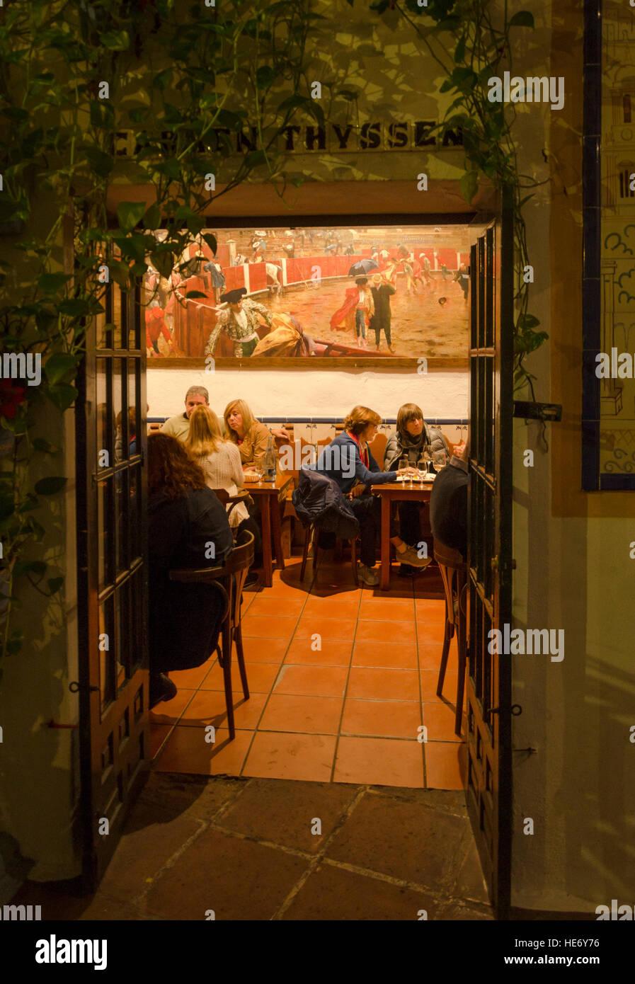 Bodega Bar El Pimpi Stock Photos Bodega Bar El Pimpi Stock Images
