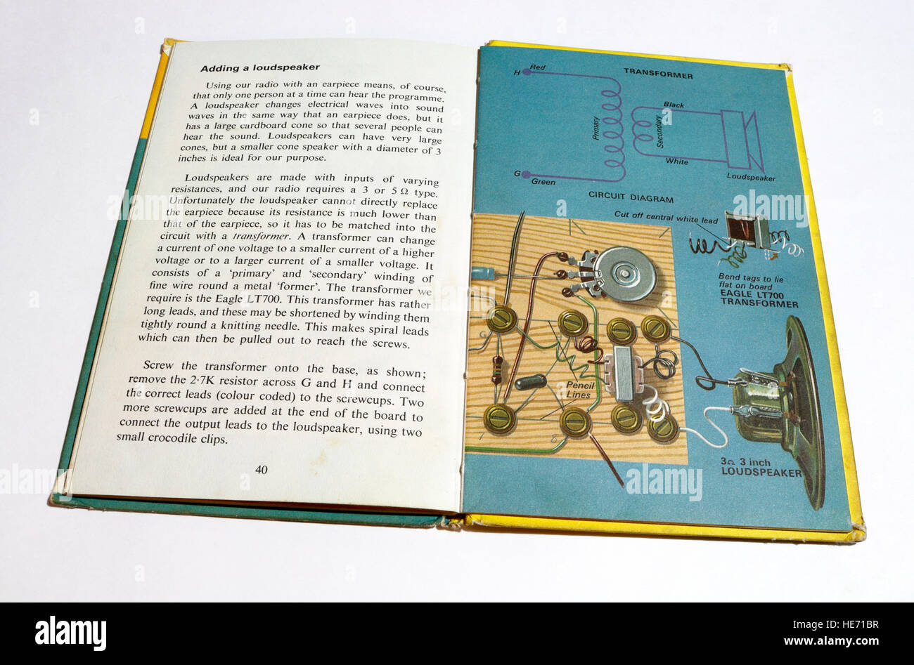 Circuit Diagram Stock Photos Images Alamy Book Page From Ladybird Making A Transistor Radio Image