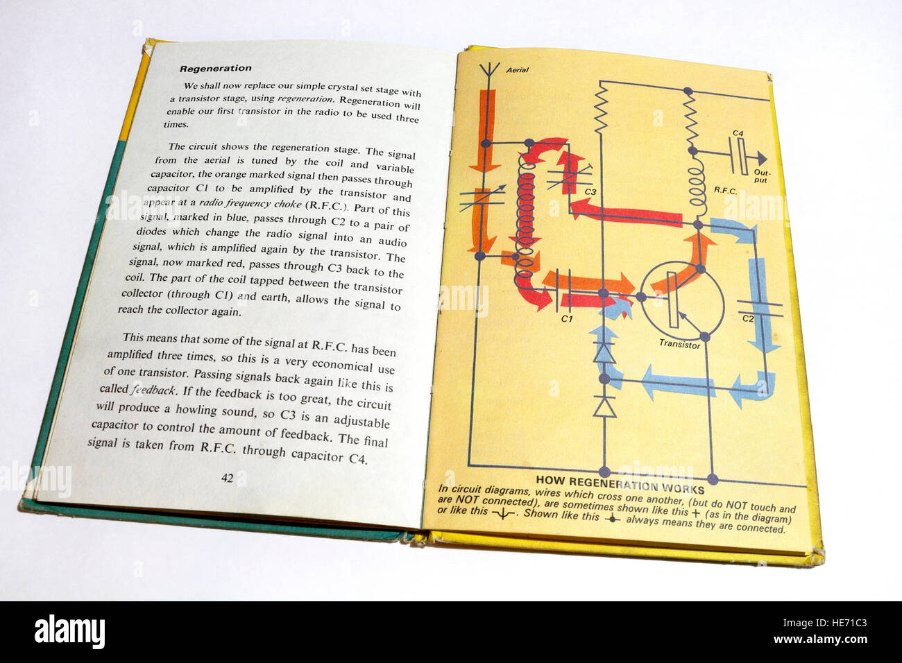 Page From Ladybird Book Making A Transistor Radio Stock Photo Circuit Diagram