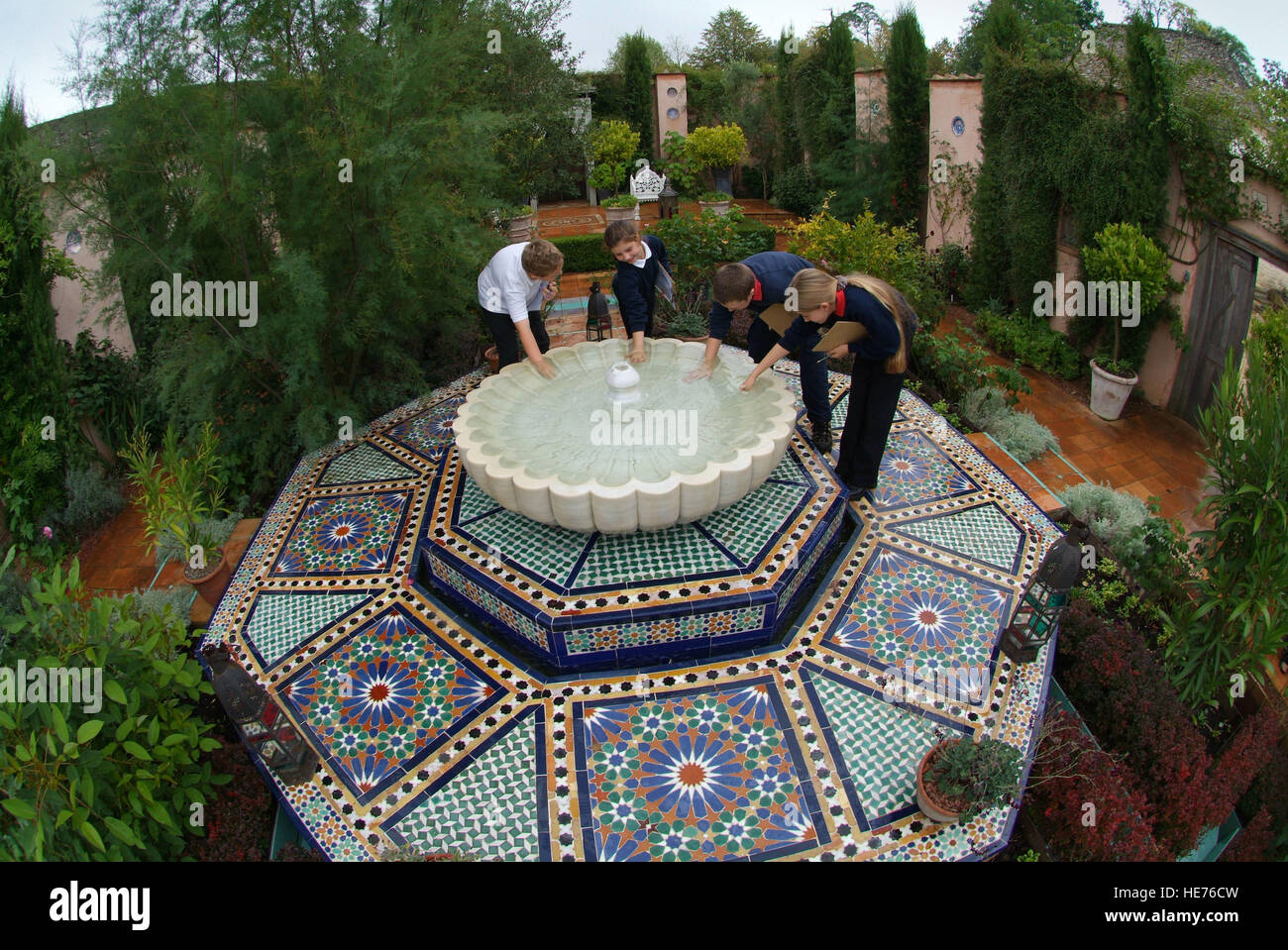 Islamic Gardens And Landscapes Highgrove islamic garden stock photos highgrove islamic garden schoolchildren visiting the islamic garden at highgrove house which was created by hrh the prince workwithnaturefo