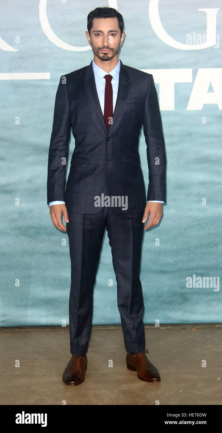 Dec 13, 2016  - Riz Ahmed attending 'Rogue One: A Star Wars Story' - Launch Event at Tate Modern in London, England, Stock Photo