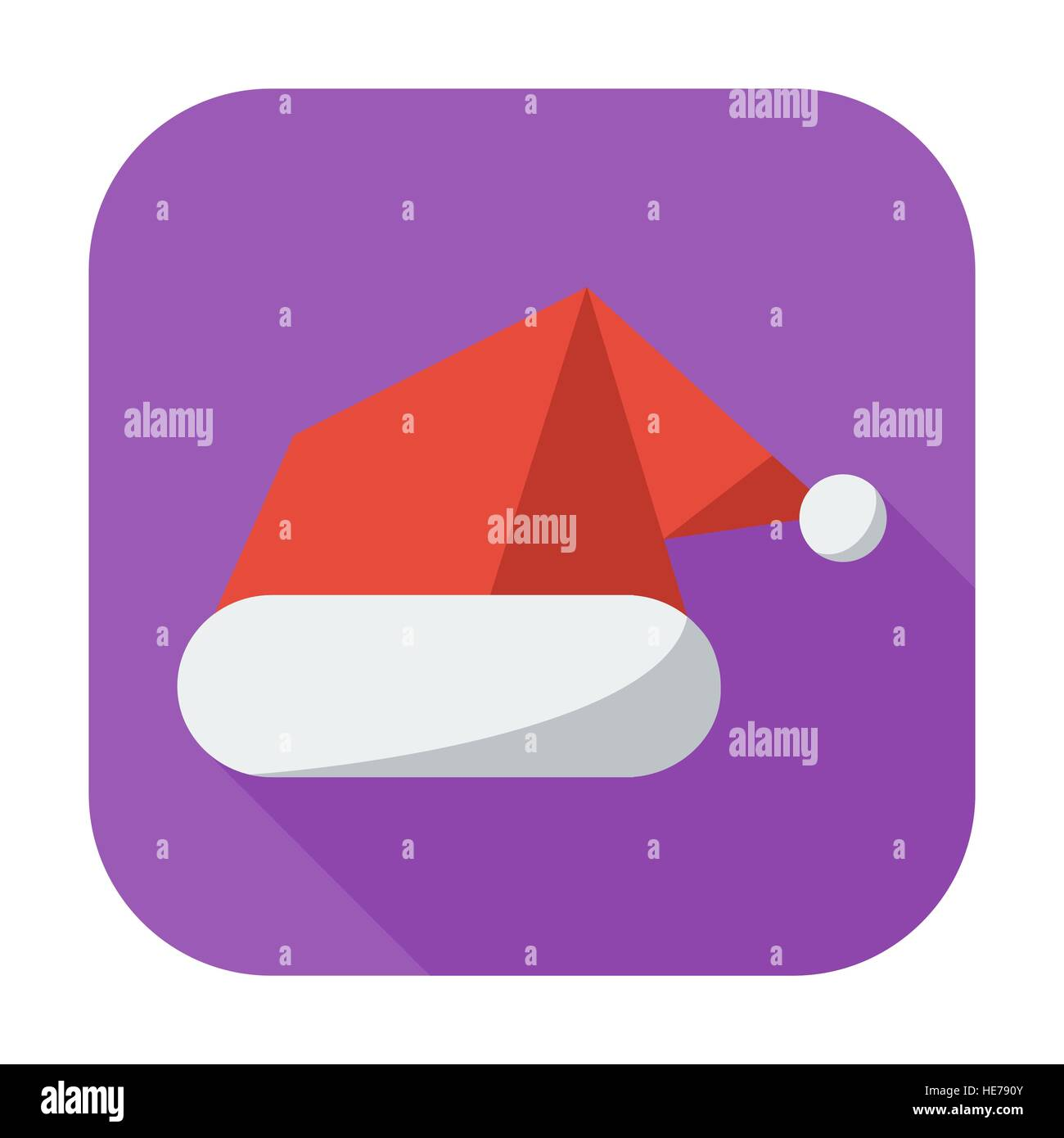 df26bf52182f8 Santa hat. Single flat icon on the button. Vector illustration Stock ...