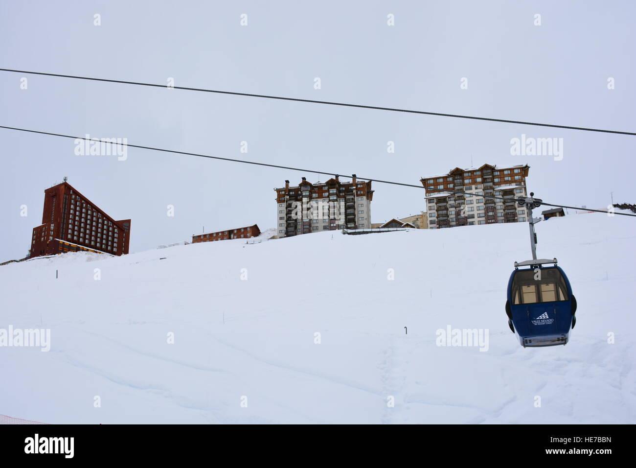 Valle Nevado ski resort in Santiago Chile - Stock Image