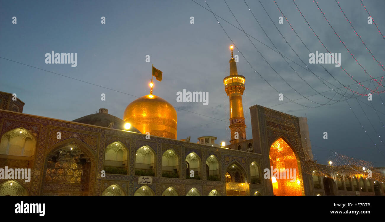 The shrine of Imam Ali alRida - Stock Image