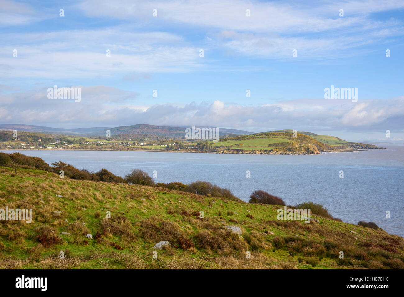 Rough Firth from Almorness Point, Solway Firth, Dumfries & Galloway, Scotland - Stock Image