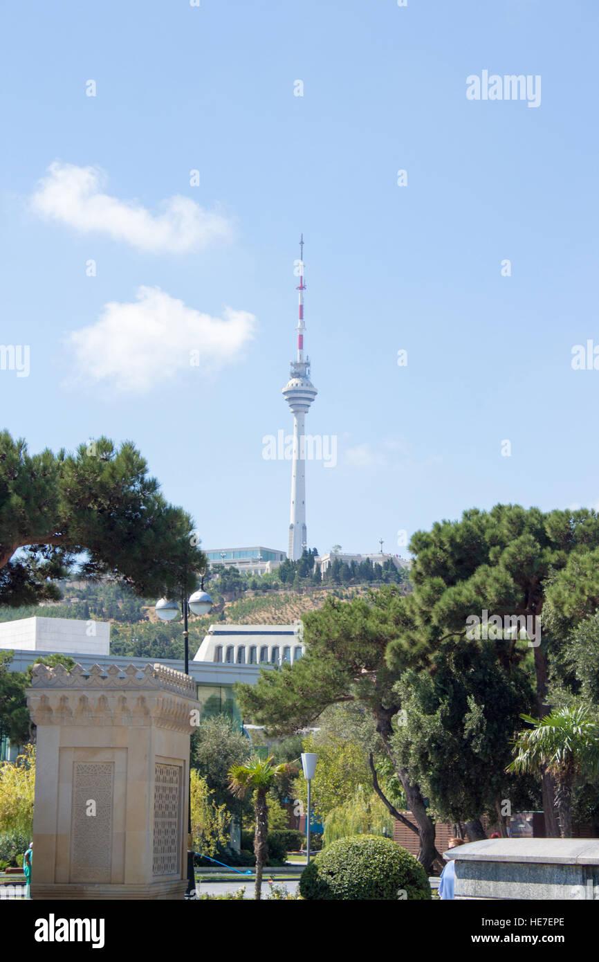 Tower of baku - Stock Image