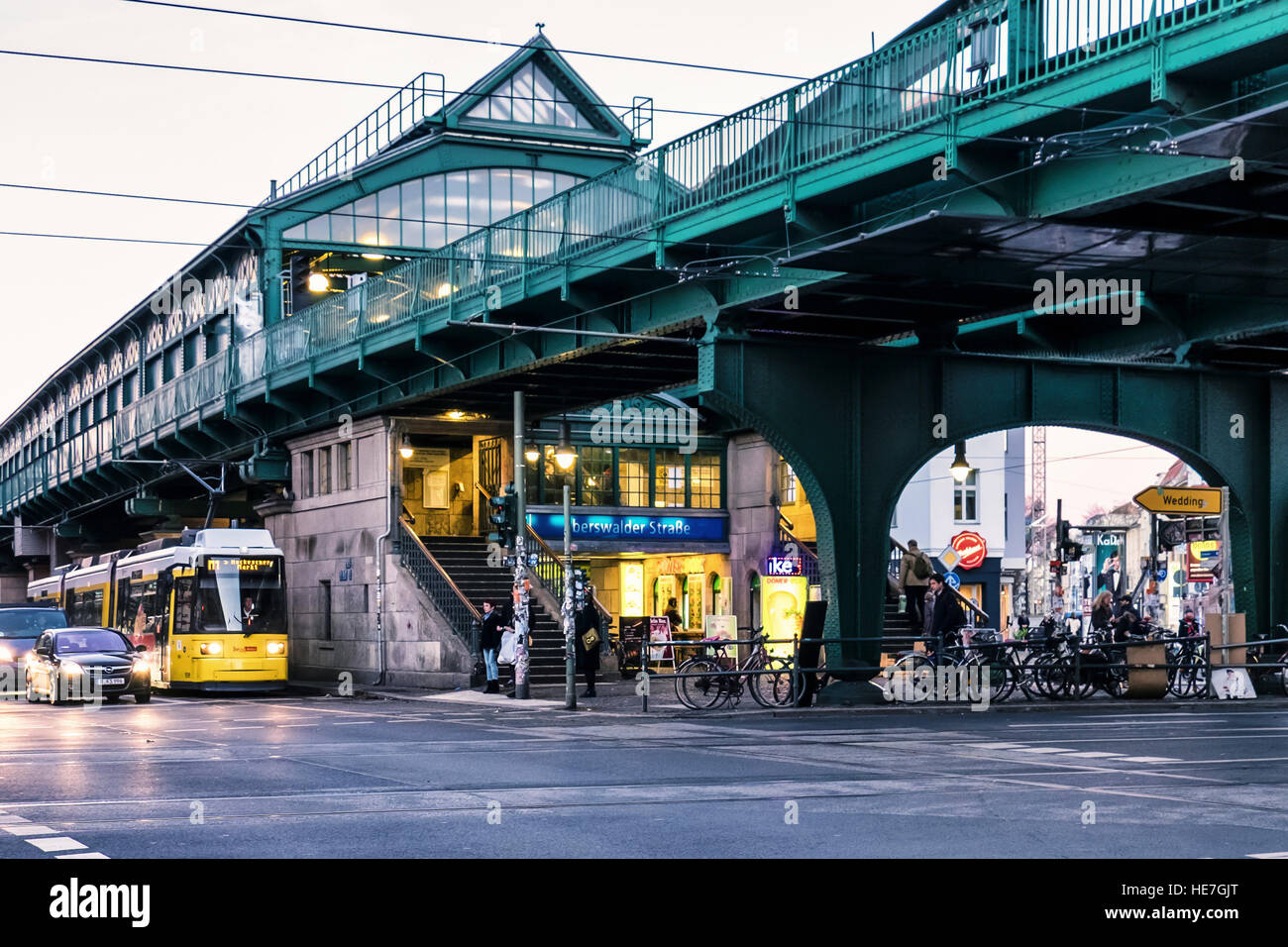 Berlin Eberswalder Strasse U Bahn U2 Railway Station Historic Stock