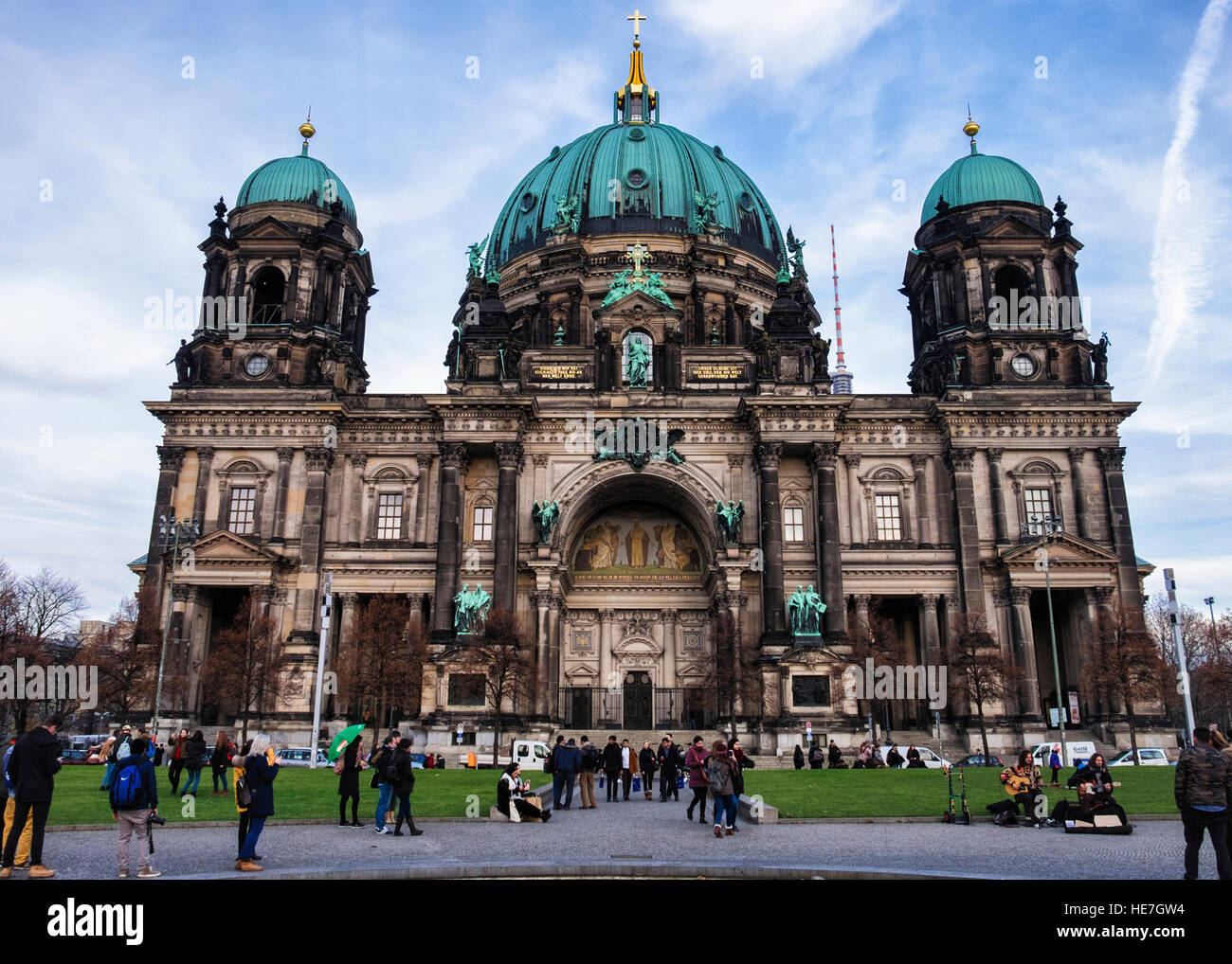 Berlin Cathedral, Berliner Dom. High Renaissance Baroque classical style historic church building exterior Stock Photo
