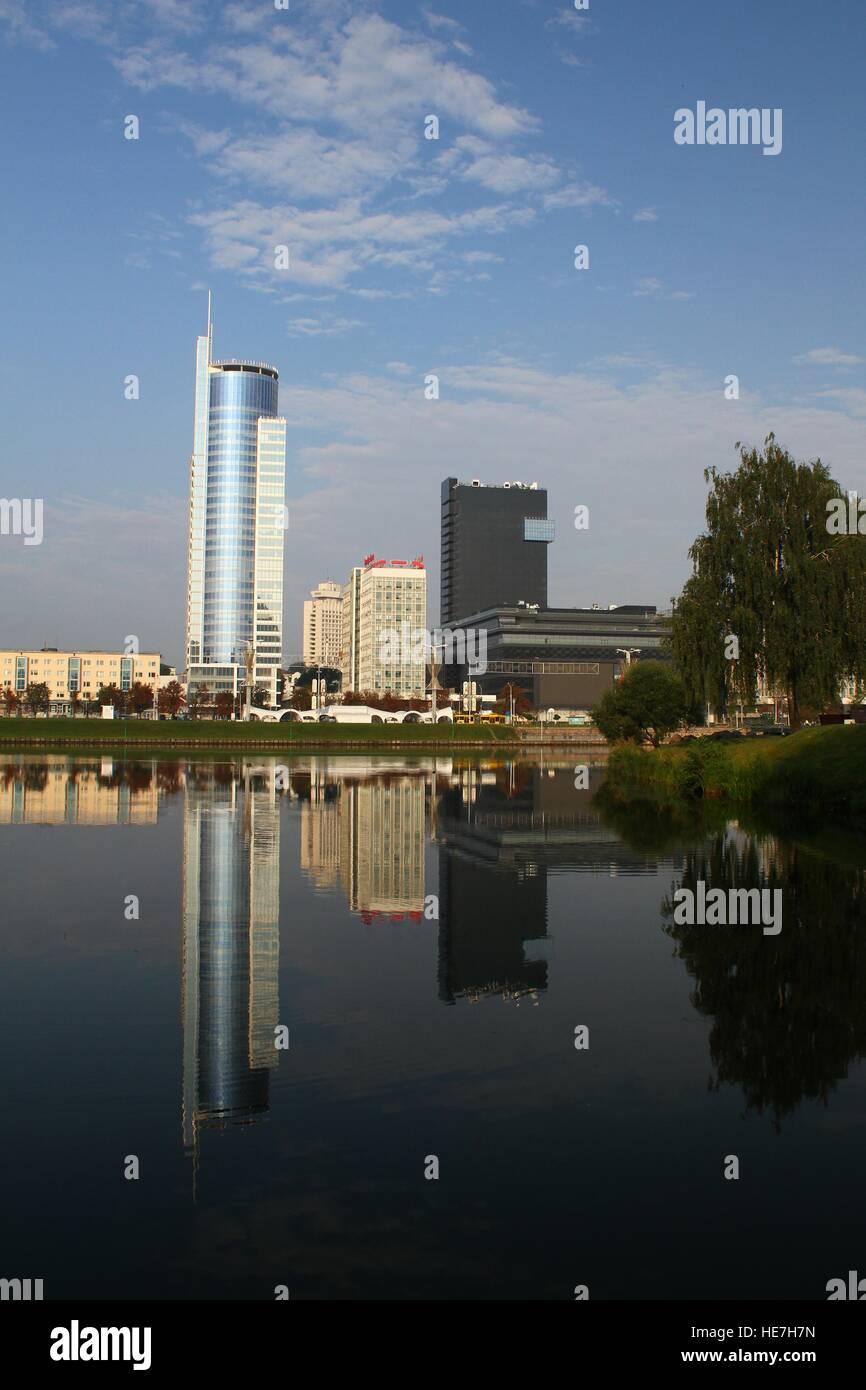 River Svisloch. Belarus, Minsk - Stock Image
