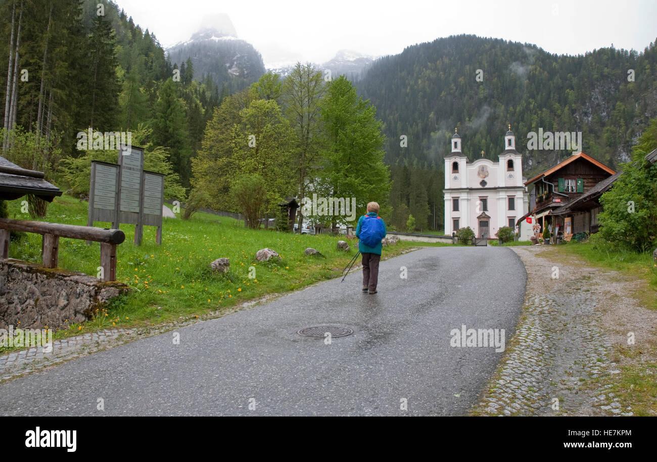 Maria Kirchental (place of pilgrimage for meditation) St Martin bei Lofer, Lofer near Salzburg, Austria. Stock Photo