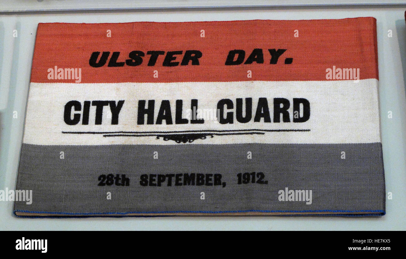 Ulster Day - 28th Sep 1912 - City Hall Guard - Home Rule Crisis Stock Photo
