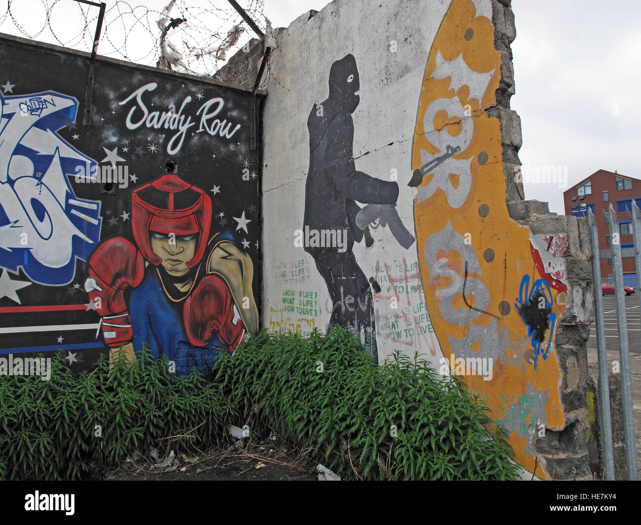 Sandy Row, Unionist community,Belfast,Northern Ireland,UK - For God and Ulster - Stock Image