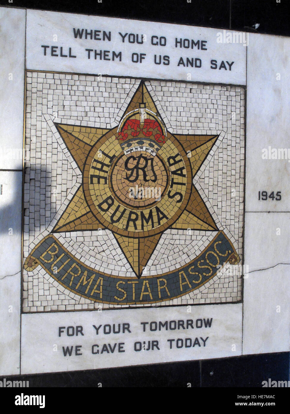 St Annes Belfast Cathedral Interior, The Burma Star Association - Stock Image