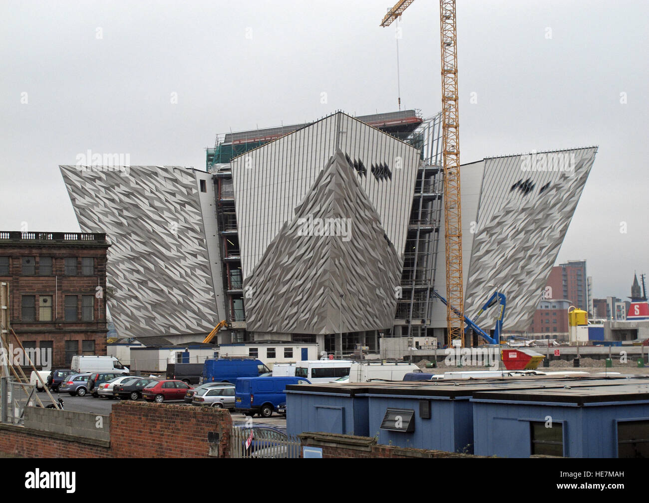 New White Star Titanic Quarter Museum, under construction May 2011, Belfast, Northern Ireland,UK Stock Photo
