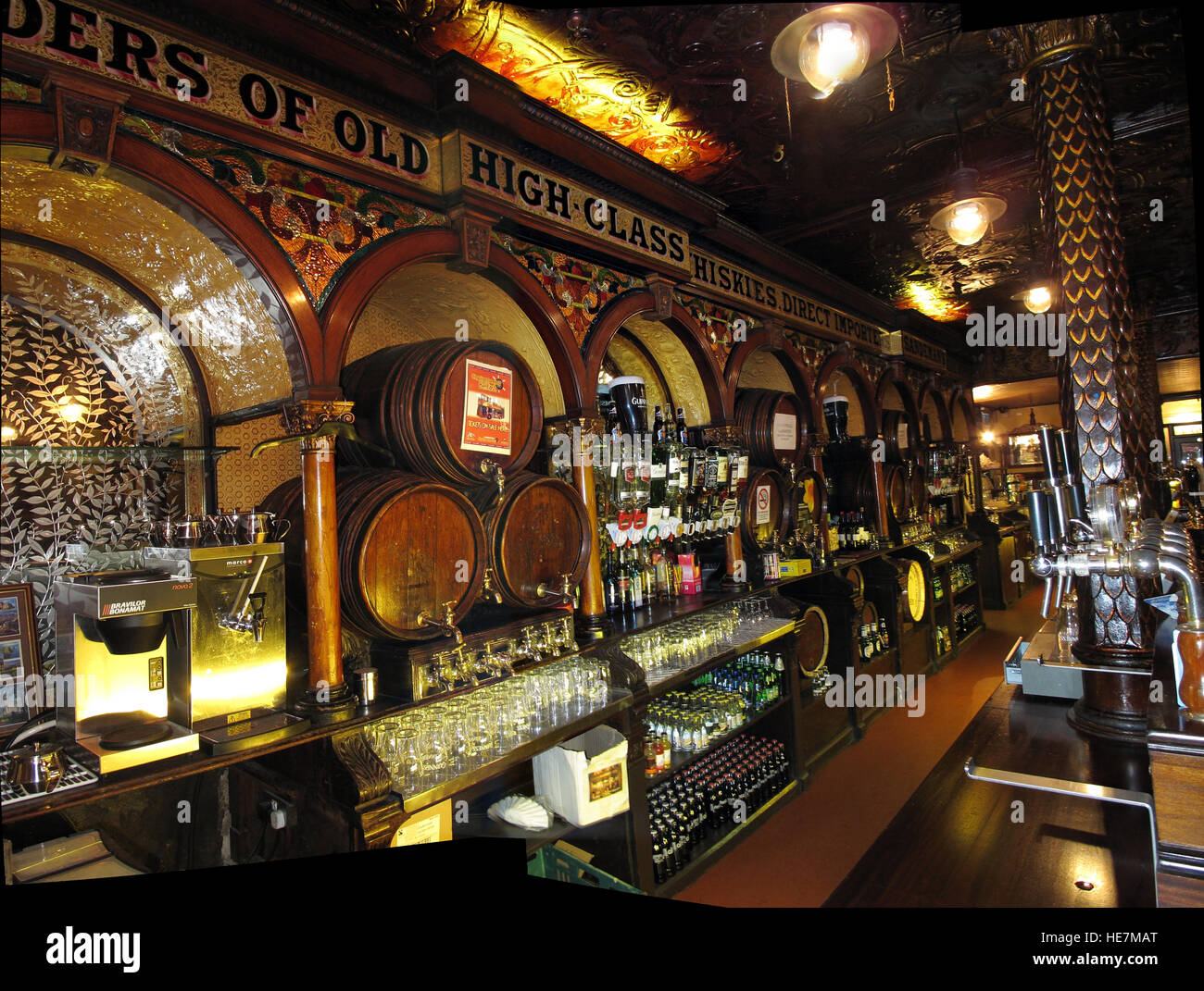 Inside the Famous Crown Bar,Gt Victoria St,Belfast - Stock Image