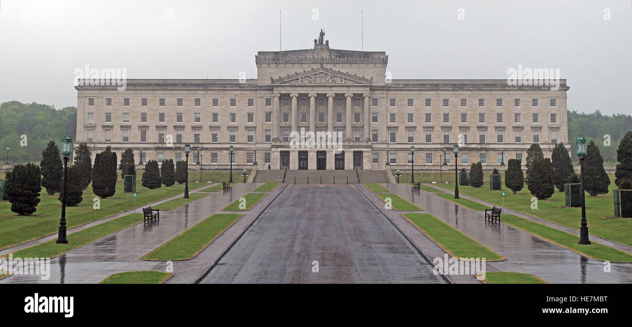 Stormont House in Belfast,Northern Ireland Office panorama, UK - Stock Image