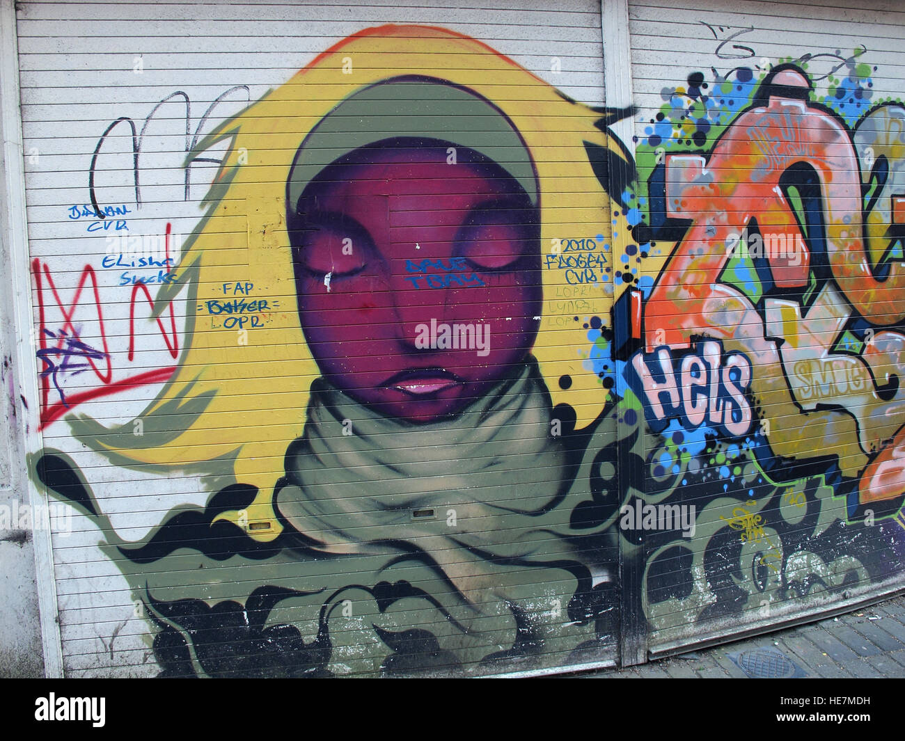 Belfast Garfield St Graffiti City Centre, Northern Ireland, UK - Stock Image