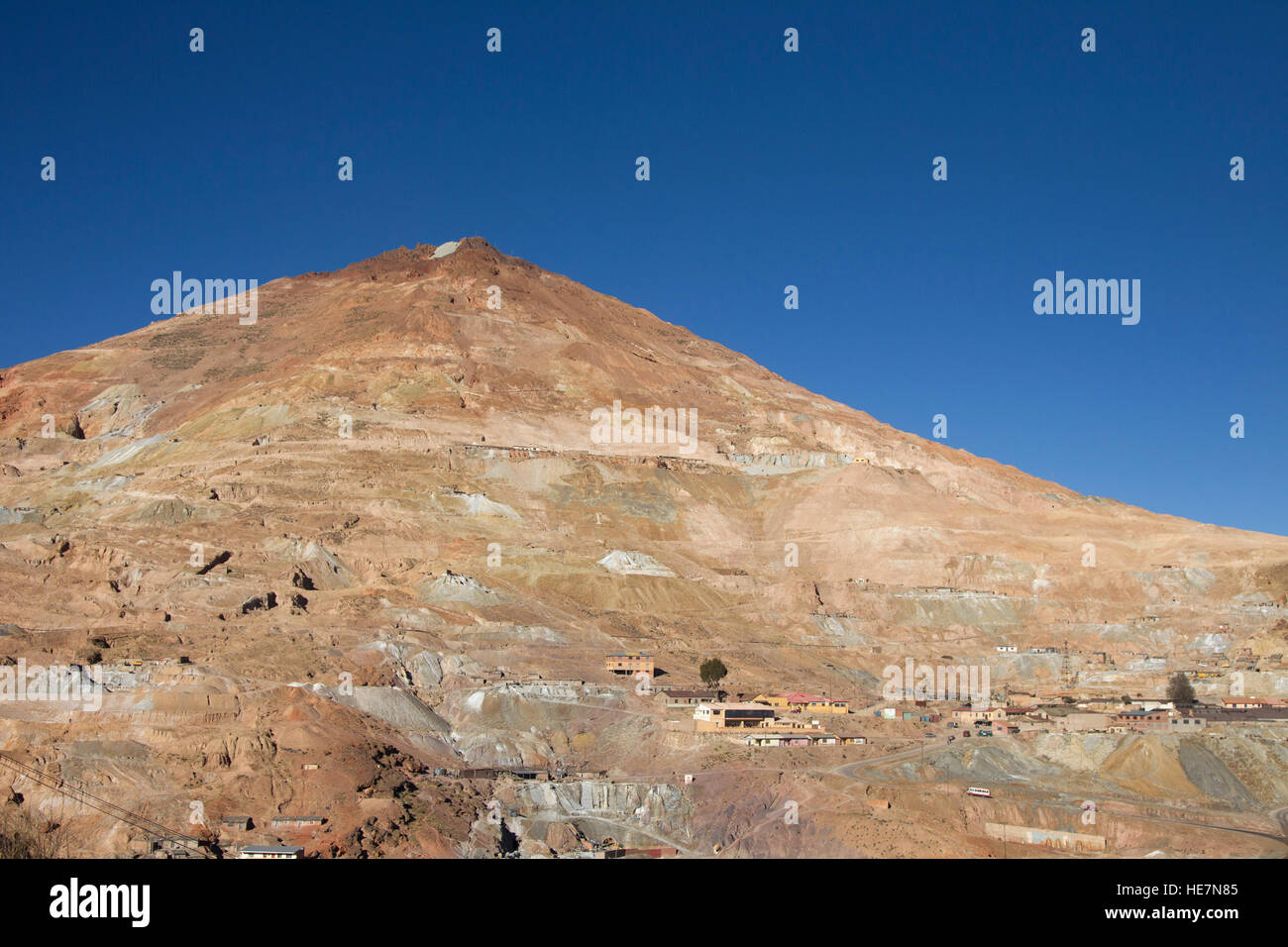 Silver mine on the Cerro Rico in Potosi - Stock Image