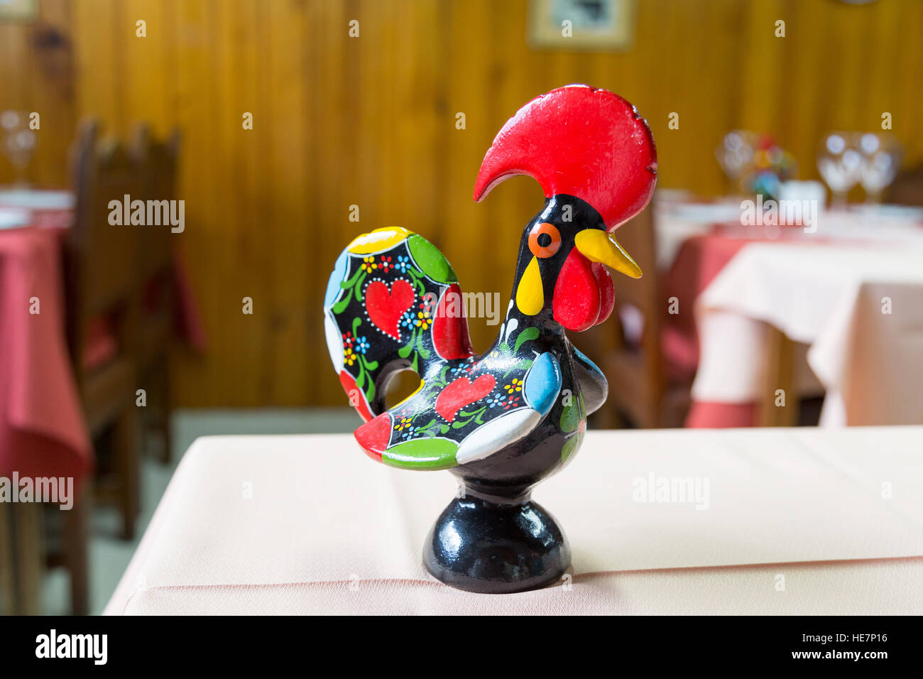 Galo de Barcelos (Rooster of Barcelos) is one of the most common emblems of Portugal - Stock Image