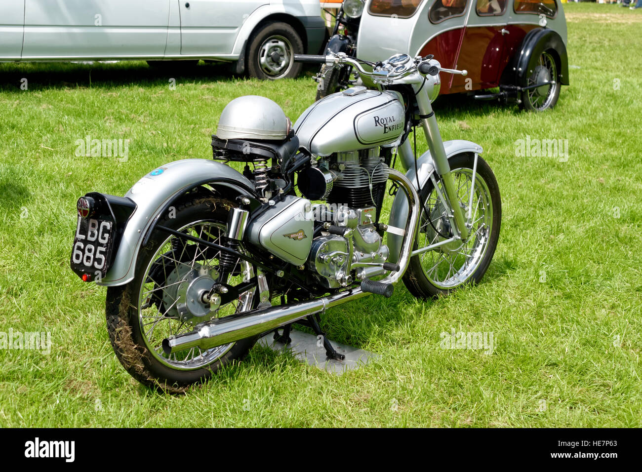 A Royal Enfield Bullet 500 classic motorcycle at the Vintage Stock ...