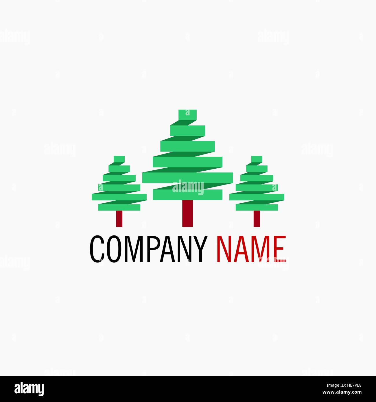 Simple Tree Logo - Stock Vector