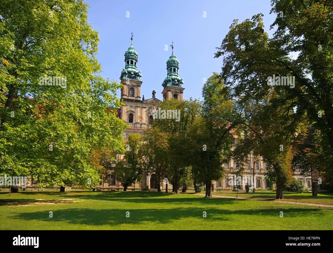 Leubus Kloster in Schlesien - Lubiaz Monastry barocco style in Lower Silesia, Poland Stock Photo