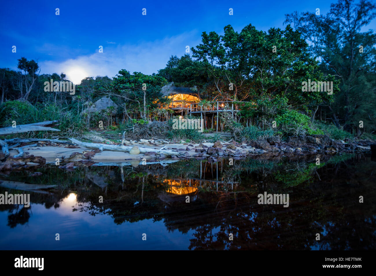 View of the Kaktus resort, Koh Ta Kiev, Sihanoukville, Cambodia - Stock Image
