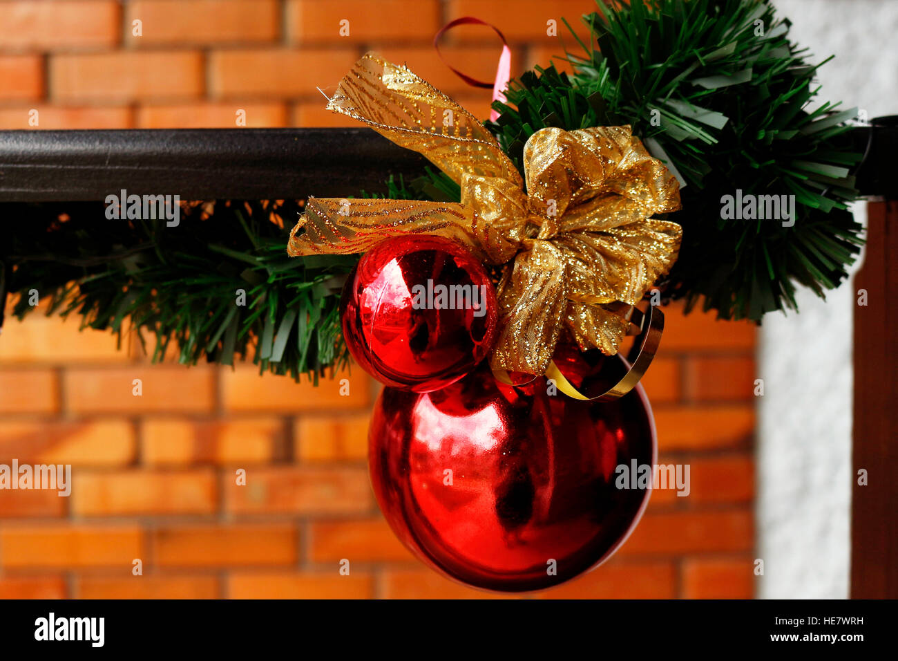 Christmas decoration. The custom of decorating trees is older than Christmas itself. - Stock Image