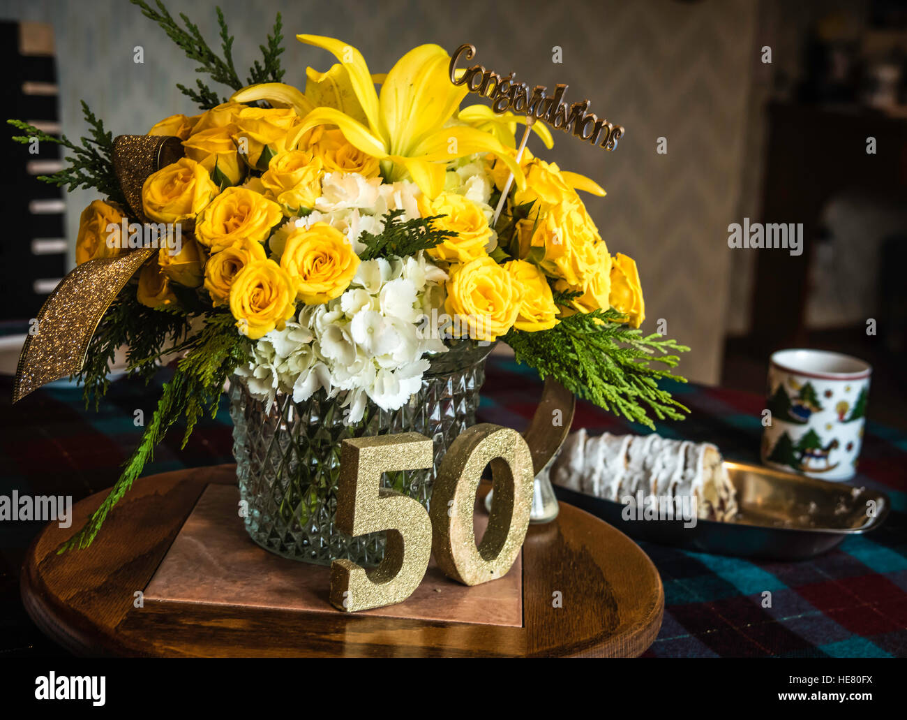 50th Wedding Anniversary Party Stock Photo Alamy