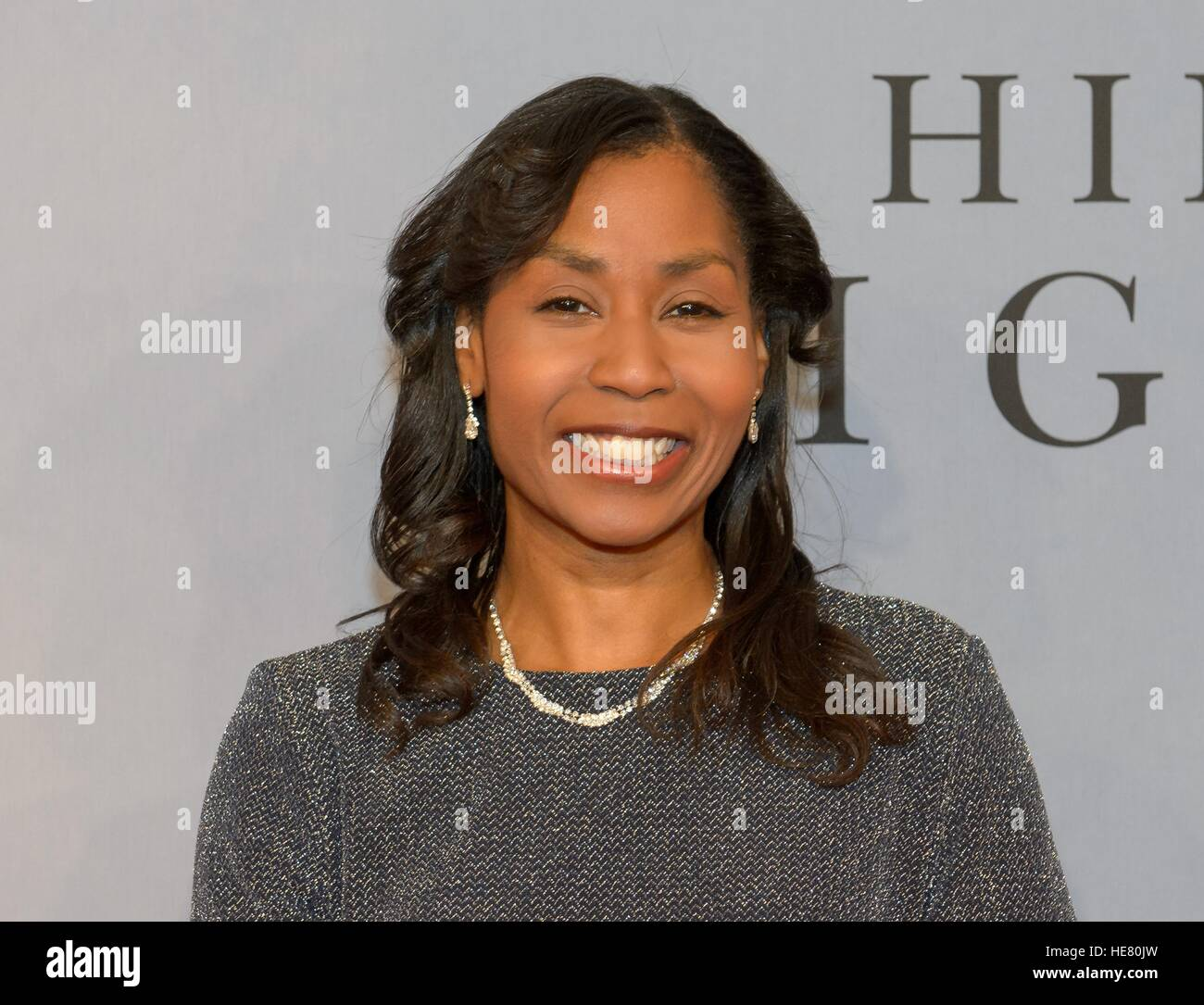 NASA astronaut Stephanie Wilson walks the red carpet during the global celebration event for the film Hidden Figures - Stock Image