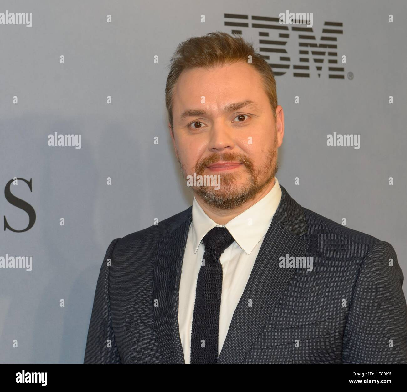 Director Theodore Melfi walks the red carpet during the global celebration event for the film Hidden Figures at - Stock Image