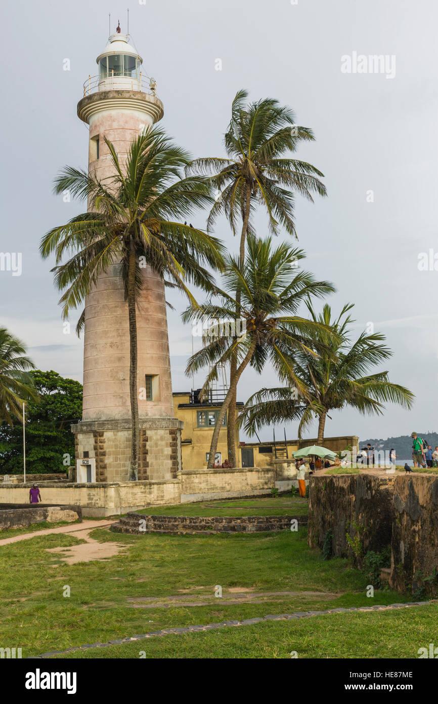 GALLE, SRI LANKA - DECEMBER 09, 2016 :Area near lighthouse, fort Galle, Sri Lanka Stock Photo