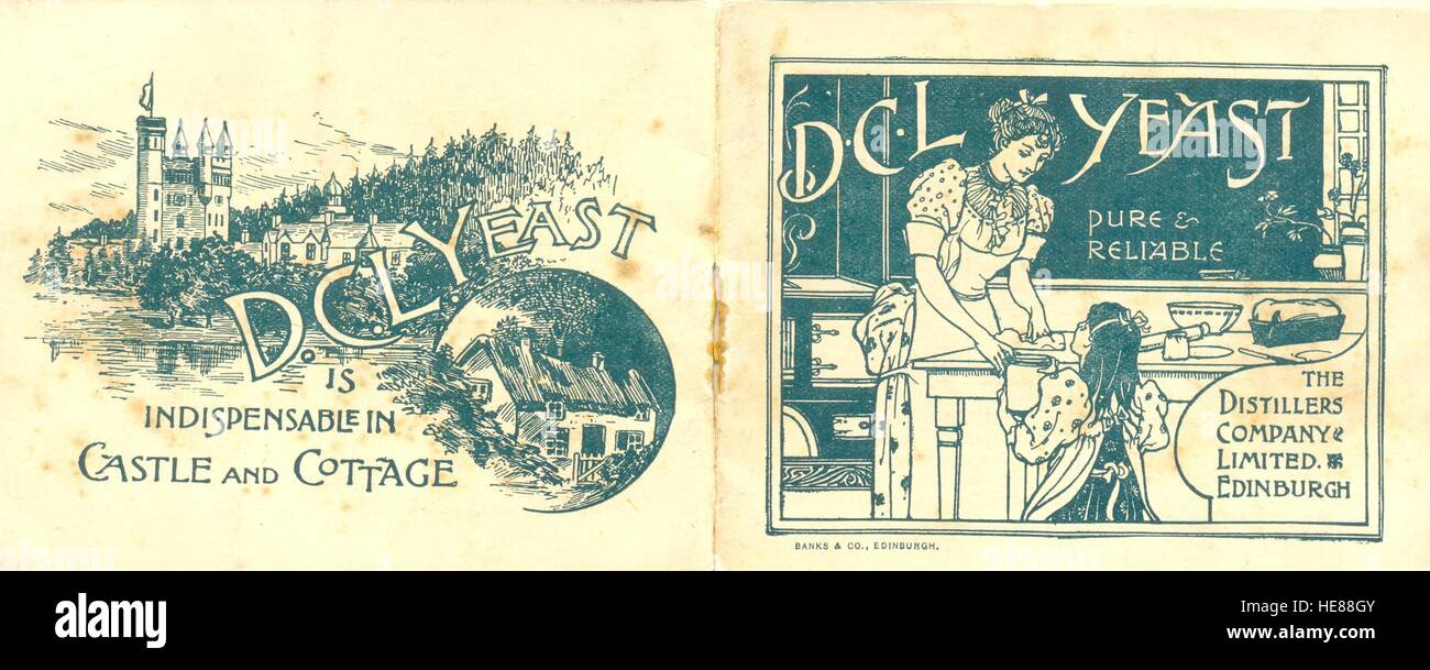 Cover of give away booklet on DCL Yeast published by The Distillers Company Limited - Stock Image