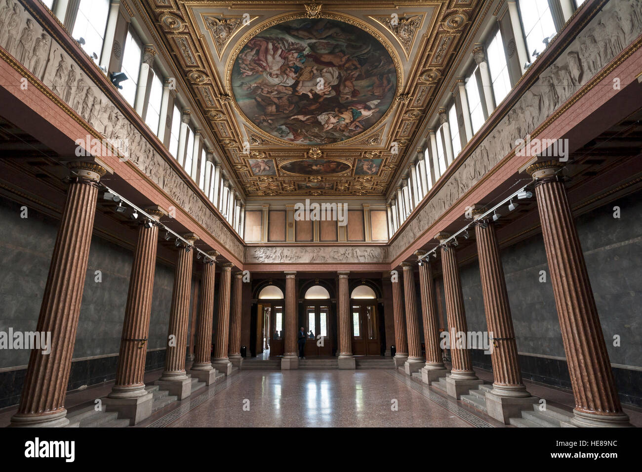 Academy Of Fine Arts Entrance Hall Vienna Austria Stock Photo