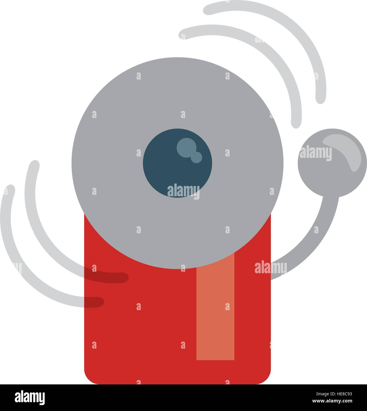 alarm fire emergency alert icon - Stock Image