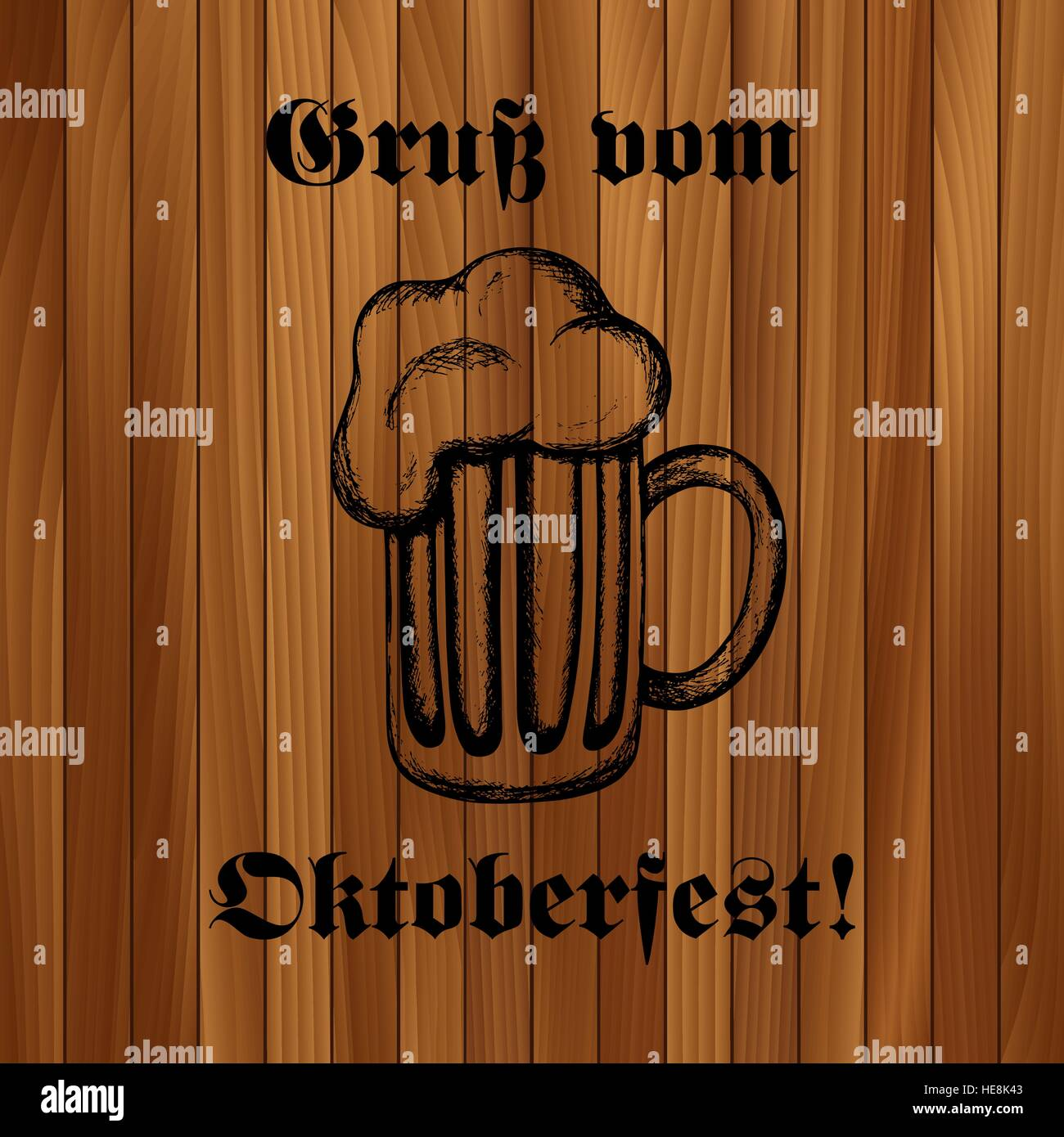 Hand drawn vector illustration of a mug of beer oktoberfest stock hand drawn vector illustration of a mug of beer oktoberfest celebration design text in german greetings from oktoberfest m4hsunfo