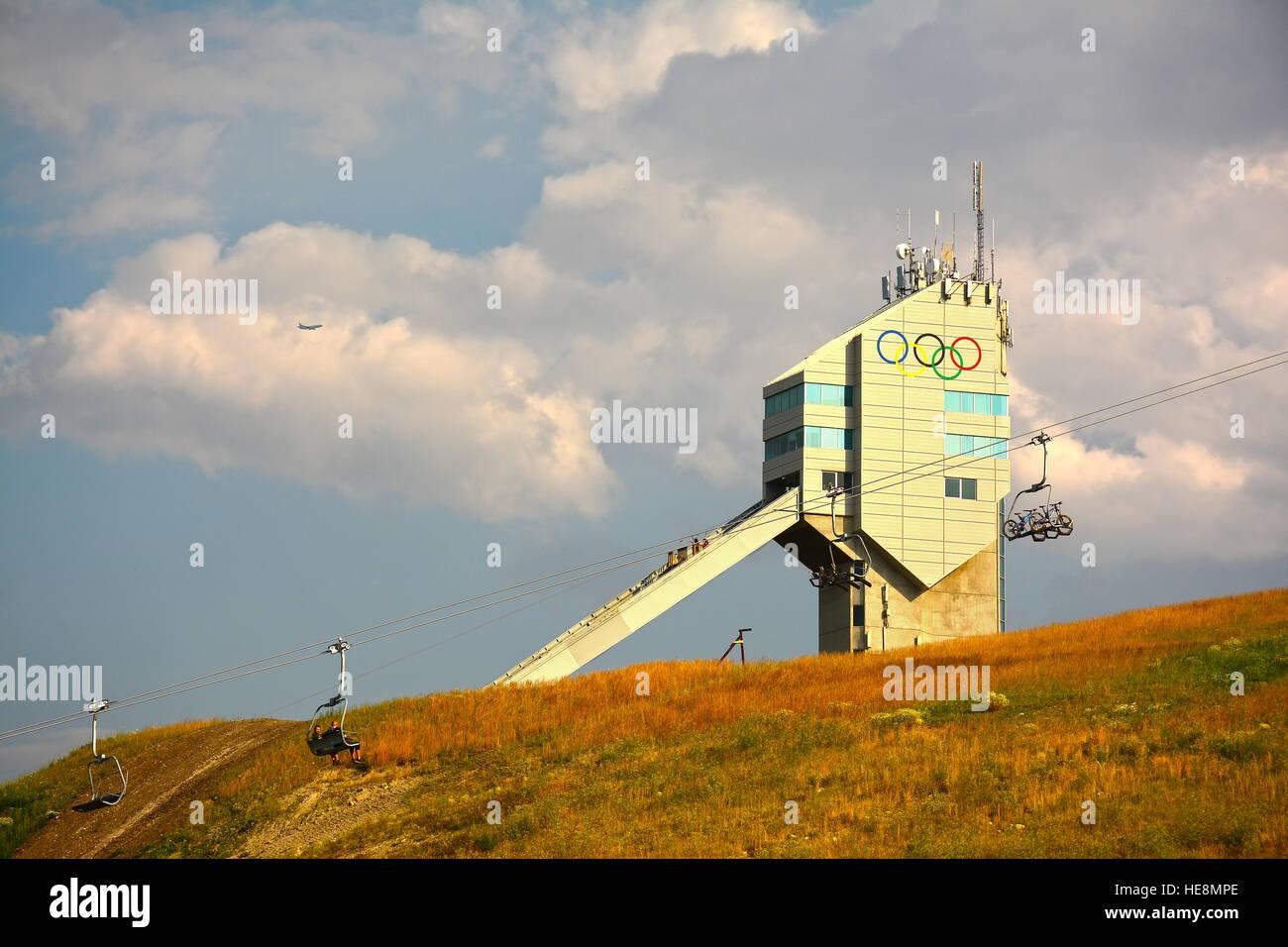 Calgary Olympic Park, Canada - Stock Image