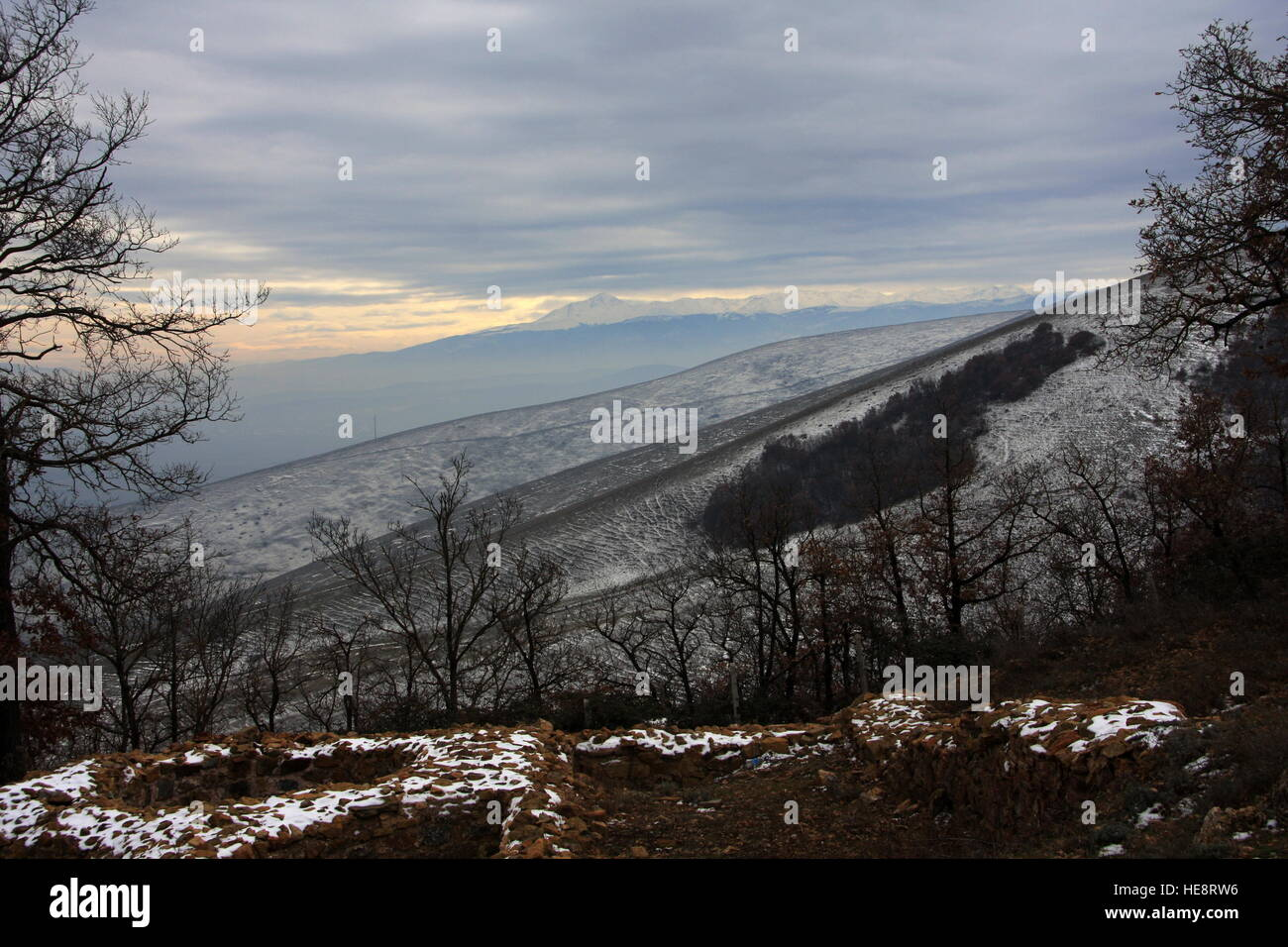 Mountains in Kosovo - Stock Image