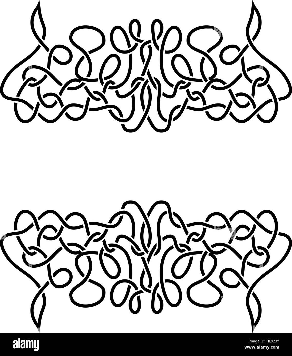 Celtic ornament - Stock Image