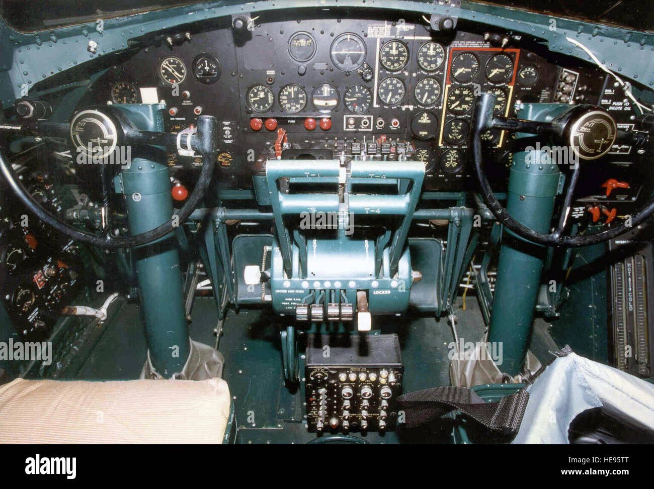 DAYTON, Ohio - Boeing B-17G Flying Fortress cockpit at the National Museum of the U.S. Air Force. (U.S. Air Force Stock Photo